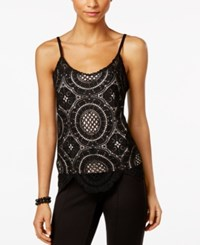 Inc International Concepts Crochet Camisole Only At Macy's Deep Black