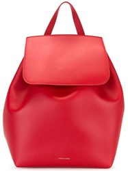 Mansur Gavriel Drawstring Backpack Red
