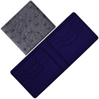 Maison Takuya African Ostrich Wallet Gray Navy