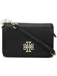 Tory Burch Logo Plaque Shoulder Bag Black
