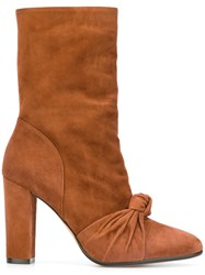 Jean Michel Cazabat Front Knot High Boots Brown