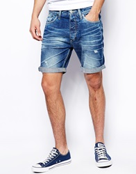 Jack And Jones Jack And Jones Jean Short With Rips Sc427midwash