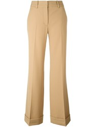 3.1 Phillip Lim Flared Tailored Trousers Nude And Neutrals