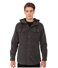 Rip Curl Dawn Patrol Cord Jacket Asphalt Men's Coat Black
