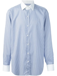 Etro Striped Shirt Blue