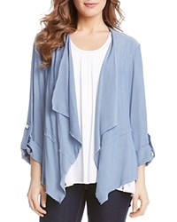 Karen Kane Draped Jacket Chambray