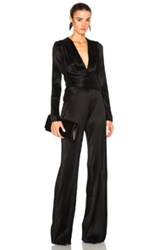 Galvan Pleated Jumpsuit In Black
