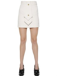 J.W.Anderson Pinstriped Cotton Mini Skirt With Tie