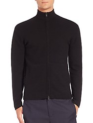 Theory Cashmere Zip Cardigan Black