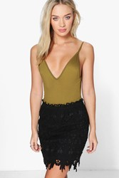 Boohoo Crochet Mini Skirt Black