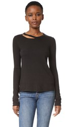 Pam And Gela Slash Neck Tee Black