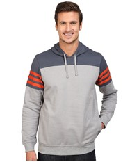 Adidas Elevated Hoodie Core Heather Utility Blue Craft Chili Men's Sweatshirt Gray