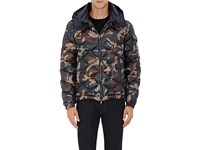 Moncler Men's Camouflage Tech Fabric Hooded Puffer Jacket Green