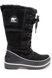 Sorel Tivoli High Ii Waterproof Suede And Leather Boots Black