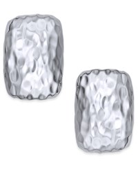 Charter Club Gold Or Silver Tone Hammered Metal Square Stud Earrings Only At Macy's