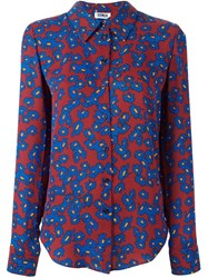 Sonia Rykiel By All Over Floral Print Shirt Red