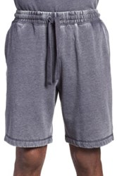 Daniel Buchler Washed Cotton Blend Lounge Shorts Blue