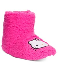 Hello Kitty Faux Sherpa Slipper Boots Pink