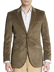 English Laundry Regular Fit Velvet Sportcoat Brown