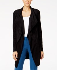 Alfani Faux Suede Jacket Only At Macy's Deep Black