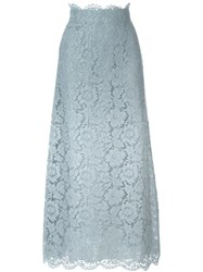 Valentino Lace A Line Skirt Grey