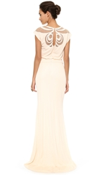 Badgley Mischka Collection Keyhole Gown Blush
