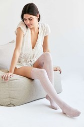 Urban Outfitters Ruched Cuff Thigh High Sock Rose