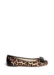 Michael Kors 'Kiera' Cheetah Print Calf Hair Ballet Flats Animal Print