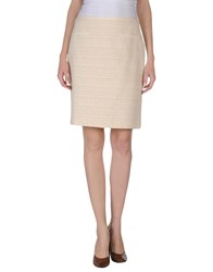 Blumarine Skirts Knee Length Skirts Women Beige