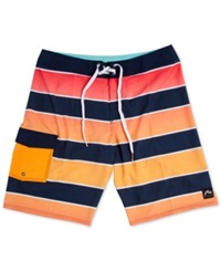 Rusty Zebra Striped Board Shorts Sunrise