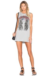 Lauren Moshi Deanna Sleeveless Dress Gray
