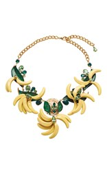 Dolce And Gabbana Resin Banana Necklace Yellow
