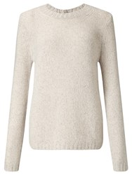 John Lewis Collection Weekend By Cashmere Donegal Knit Jumper Pink White