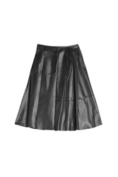 Vionnet Leather Skirt Black