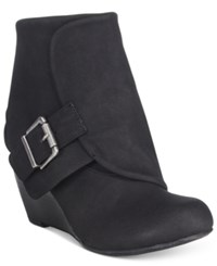 American Rag Coreene Cuffed Wedge Booties Only At Macy's Women's Shoes Black