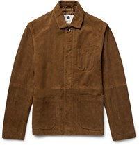 Nn.07 Nn07 Oscar 8154 Suede Jacket Brown
