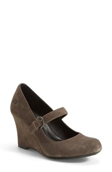 Born 'Jordana' Wedge Pump Women Grey Suede