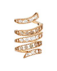 18K Rose Gold Coiled Diamond Flex Ring Staurino Fratelli
