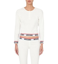 Moschino Ribbed Cotton Top 1 White