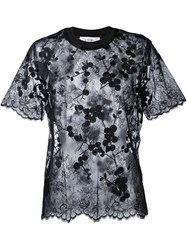 Carven Semi Sheer Blouse Black