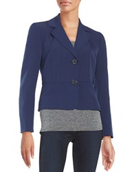 Nipon Boutique Two Button Blazer Indigo
