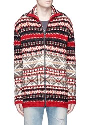 Faith Connexion Merino Wool Alpine Knit Cardigan Multi Colour