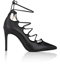 Barneys New York Women's Leather Lace Up Pumps Black