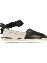 Pierre Hardy Lace Up Ankle Strap Espadrilles Black