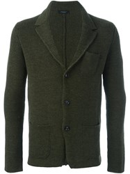 Roberto Collina Three Button Blazer Green