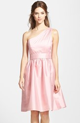 Women's Alfred Sung One Shoulder Satin Fit And Flare Dress Twirl