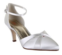 Rainbow Coconut Ice Open Ankle Strap Heel Shoes Ivory
