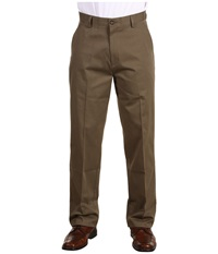 Dockers Easy Khaki D3 Classic Fit Flat Front Umber Men's Casual Pants Brown