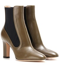 Gianvito Rossi Leather Ankle Boots Green
