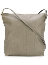 Rick Owens Large Textured Crossbody Bag Nude And Neutrals